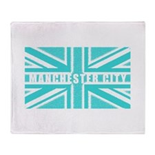 Manchester City Union Jack Throw Blanket