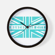 Manchester City Union Jack Wall Clock