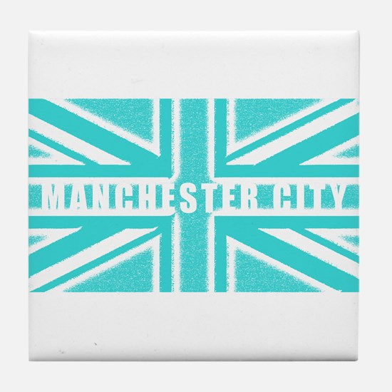 Manchester City Union Jack Tile Coaster