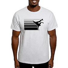 Break lines gray/blk T-Shirt
