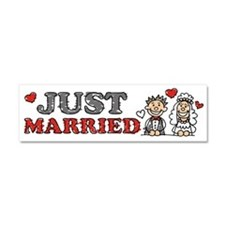 Just Married Wedding Couple Car Magnet