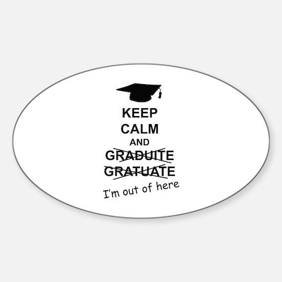 Keep Calm Graduate Sticker (Oval)