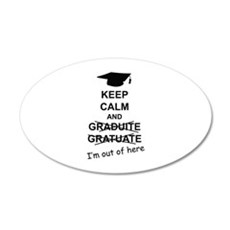 Keep Calm Graduate 22x14 Oval Wall Peel
