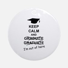 Keep Calm Graduate Ornament (Round)