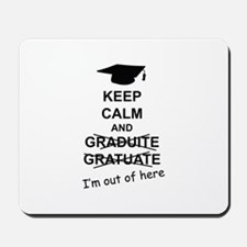 Keep Calm Graduate Mousepad