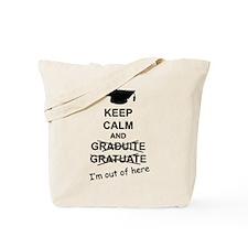 Keep Calm Graduate Tote Bag