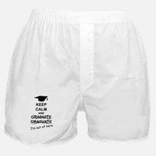Keep Calm Graduate Boxer Shorts