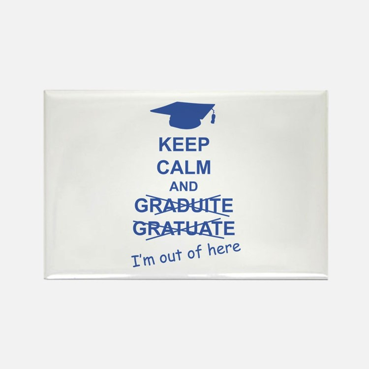 Keep Calm Graduate Rectangle Magnet