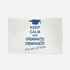Keep Calm Graduate Rectangle Magnet (10 pack)