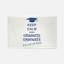 Keep Calm Graduate Rectangle Magnet (100 pack)