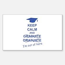 Keep Calm Graduate Decal