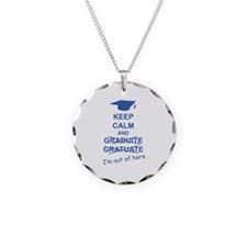 Keep Calm Graduate Necklace Circle Charm