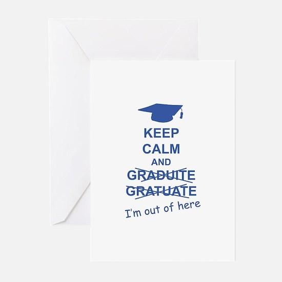 Keep Calm Graduate Greeting Cards (Pk of 20)
