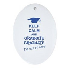 Keep Calm Graduate Ornament (Oval)