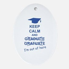 Keep Calm Graduate Ornament (Oval)