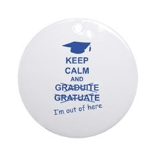 Keep Calm Graduate Ornament (Round)