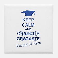 Keep Calm Graduate Tile Coaster