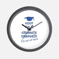 Keep Calm Graduate Wall Clock