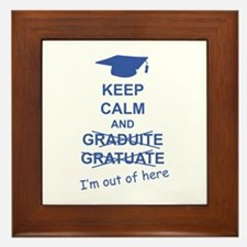 Keep Calm Graduate Framed Tile