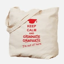 Keep Calm Graduate Tote Bag