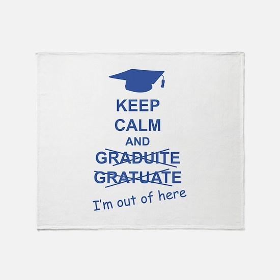 Keep Calm Graduate Throw Blanket