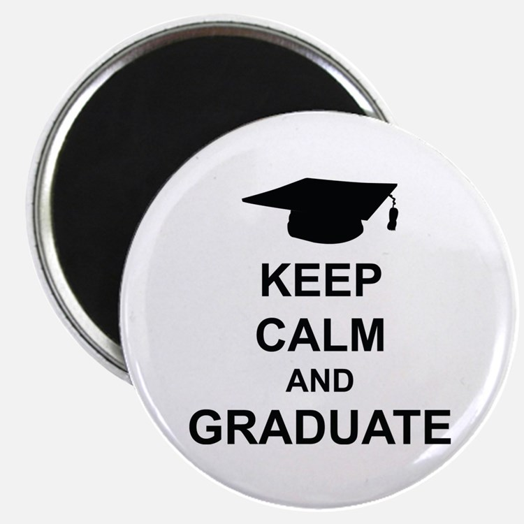 """Keep Calm and Graduate 2.25"""" Magnet (10 pack)"""