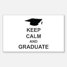 Keep Calm and Graduate Decal
