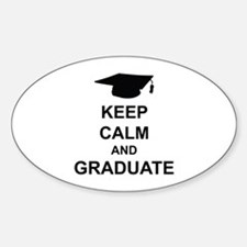 Keep Calm and Graduate Sticker (Oval)