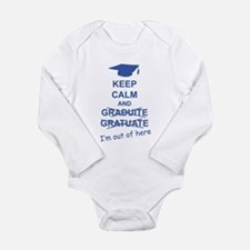 Keep Calm Graduate Long Sleeve Infant Bodysuit