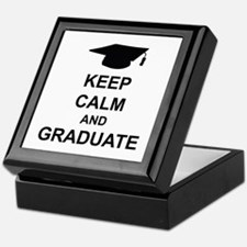 Keep Calm and Graduate Keepsake Box