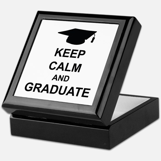 Keep Calm and Graduate Keepsake Box