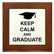 Keep Calm and Graduate Framed Tile