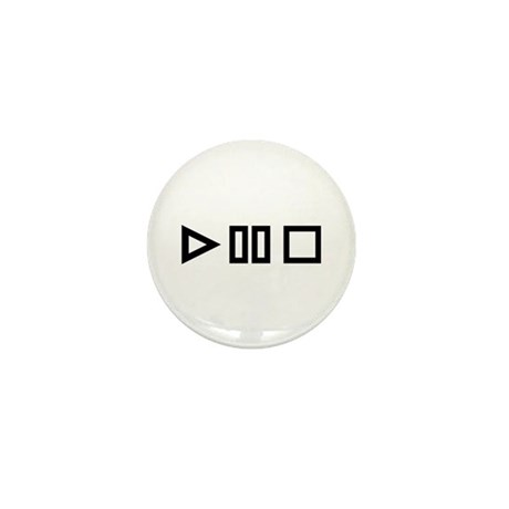 Play pause stop Mini Button (100 pack)