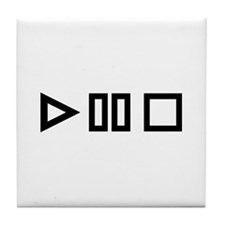 Play pause stop Tile Coaster