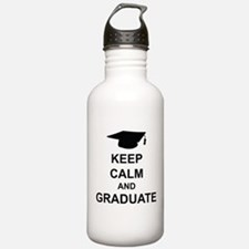 Keep Calm and Graduate Sports Water Bottle