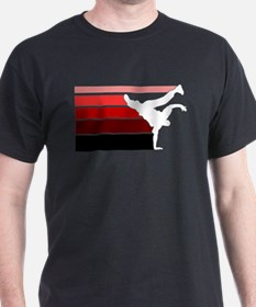 break lines red white T-Shirt
