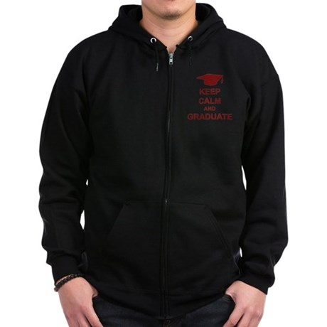 Keep Calm and Graduate Zip Hoodie (dark)