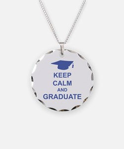 Keep Calm and Graduate Necklace Circle Charm