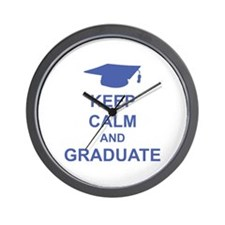 Keep Calm and Graduate Wall Clock