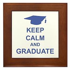 Keep Calm and Graduate Framed Tile