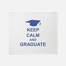Keep Calm and Graduate Throw Blanket