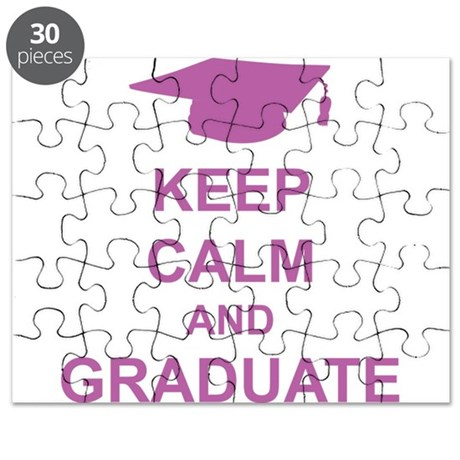 Keep Calm and Graduate Puzzle