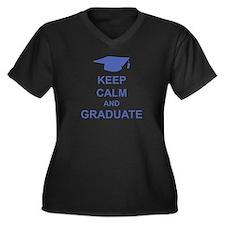 Keep Calm and Graduate Women's Plus Size V-Neck Da