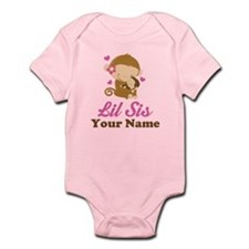 Personalized Little Sister Monkey Infant Bodysuit