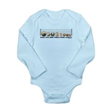 Coin Lineup Long Sleeve Infant Bodysuit