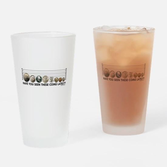 Coin Lineup Drinking Glass