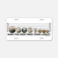 Coin Lineup Aluminum License Plate