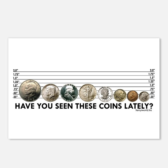 Coin Lineup Postcards (Package of 8)