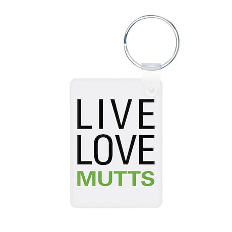 Live Love Mutts Aluminum Photo Keychain