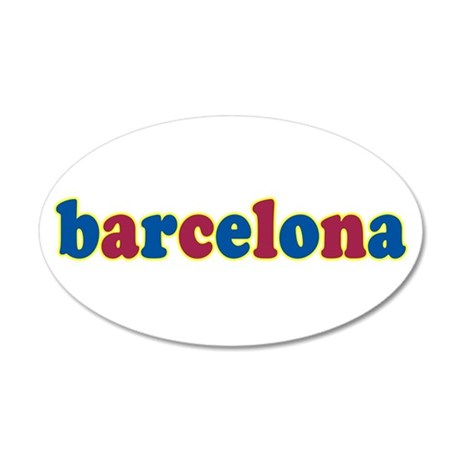 Barcelona 22x14 Oval Wall Peel